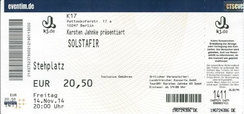 Ticket Sólstafir