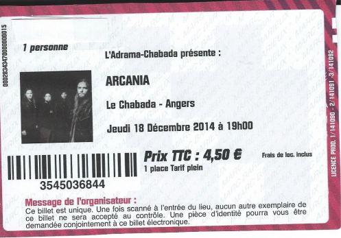 Ticket Arcania