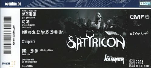 Ticket Satyricon