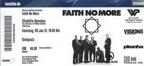 Ticket Faith No More