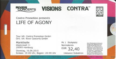 Ticket Life of Agony
