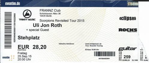 Ticket Uli Jon Roth