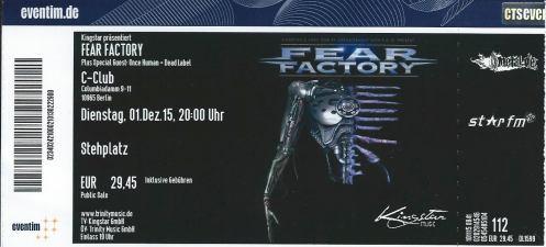Ticket Fear Factory