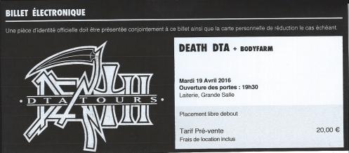 Ticket Death DTA