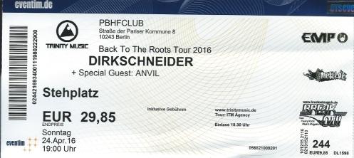 Ticket Dirkschneider