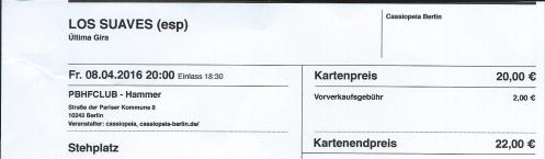 Ticket Los Suaves