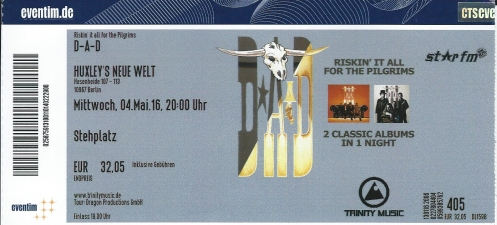 Ticket D-A-D