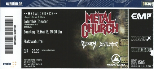 Ticket Metal Church