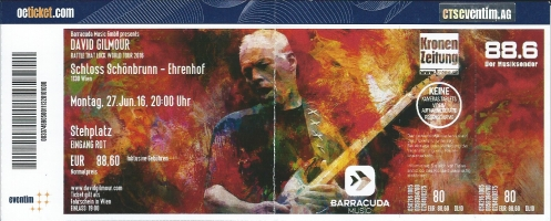 Ticket David Gilmour
