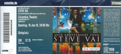 Ticket Steve Vai