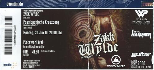 Ticket Zakk Wylde