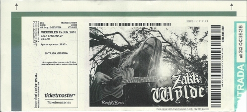 Ticket Zakk Wylde