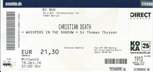 Ticket Christian Death