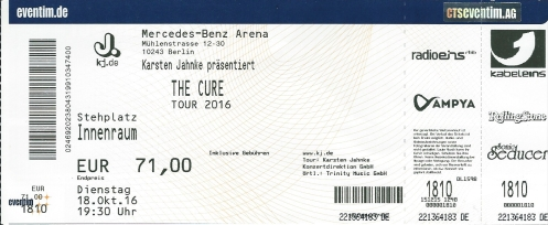 Ticket The Cure
