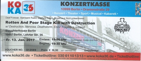 Ticket Destruction